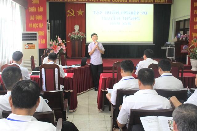 PC Bắc Giang khai giảng lớp nghiệp vụ truyền thông năm 2018